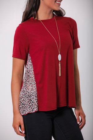 Window to a New World Floral Side Panel Tee - Tops - Wight Elephant Boutique