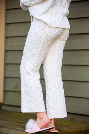Sweet Dreams Cable Knit Pants