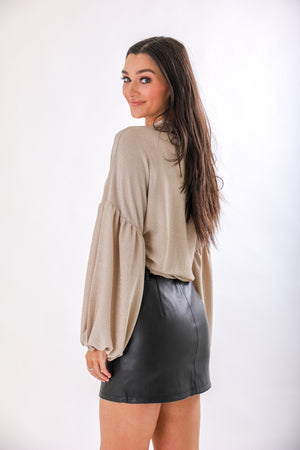 Trendsetter Faux Leather Belted Skirt - Skirts - Wight Elephant Boutique
