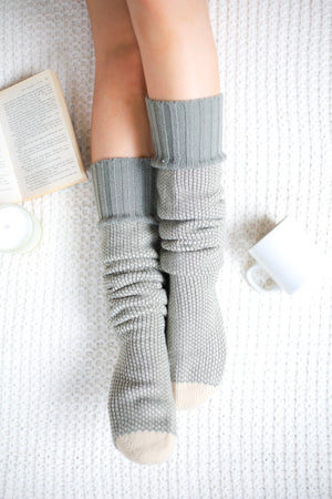 Knee High Knit Lounge Socks - Mint