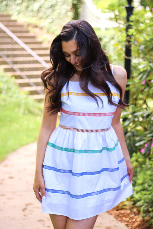 Lovely Ladder Rainbow Dress