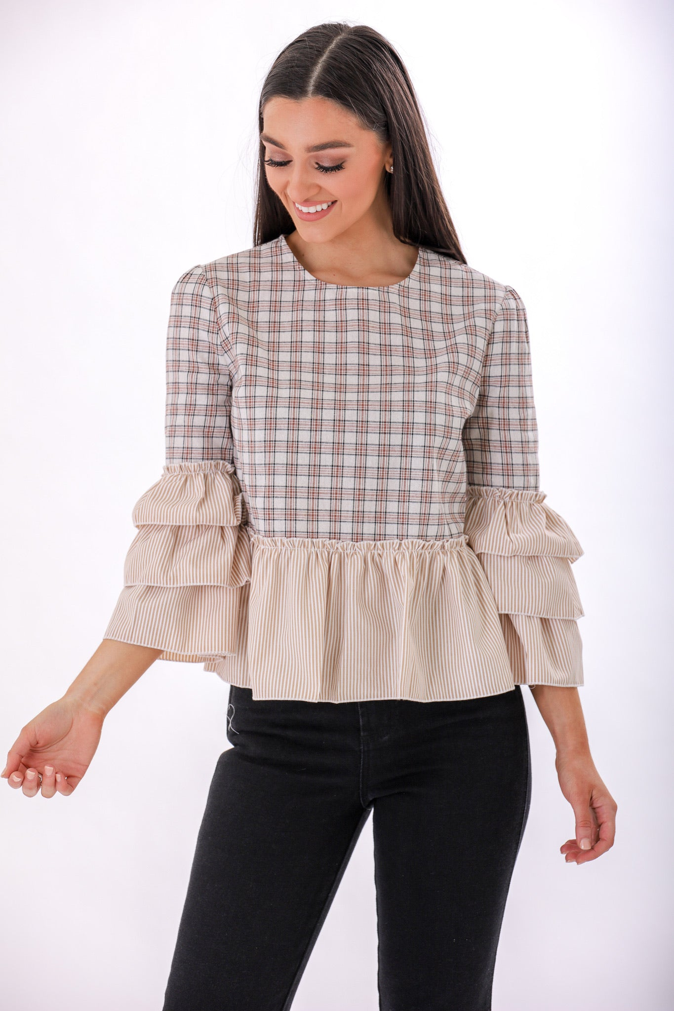 Flouncey Mood Tiered Ruffle Top - Tops - Wight Elephant Boutique