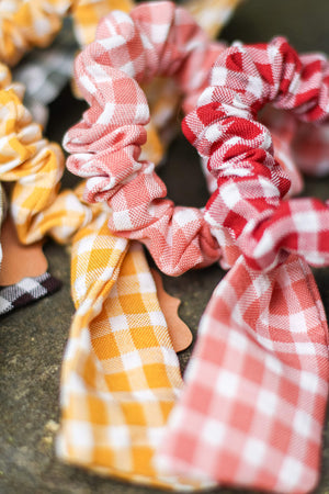 Gingham Scrunchies