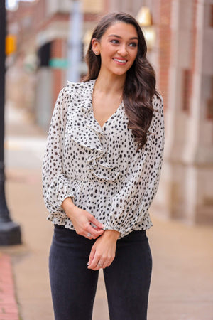 Penelope Ruffle Blouse - Tops - Wight Elephant Boutique