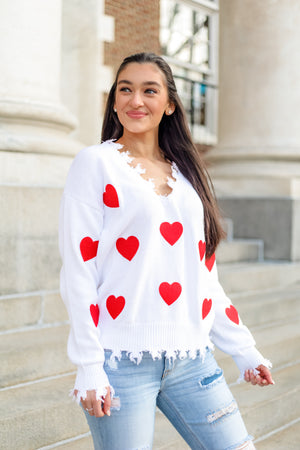 Tough Love Heart Sweater