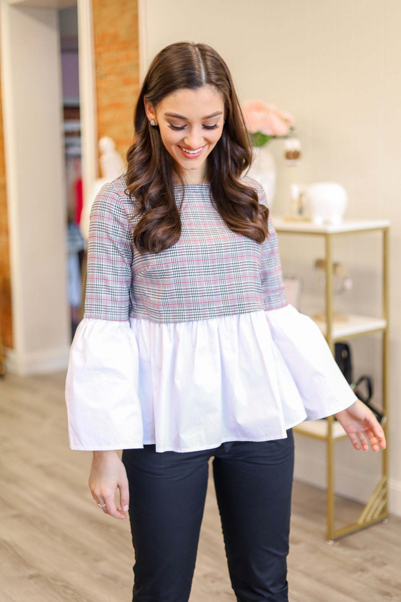 Fad of Plaid Top - Tops - Wight Elephant Boutique
