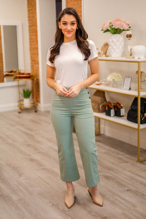Pinch of Sage Linen Cropped Pants