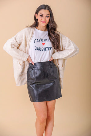 Shake Rattle and Roll Snake Skin Faux Leather Skirt - Skirts - Wight Elephant Boutique