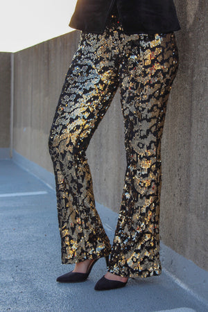 Rebel Sequin Pants - Pants - Wight Elephant Boutique