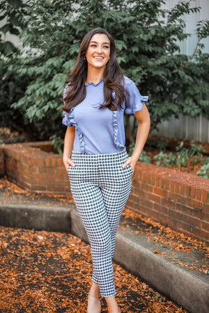 Cheery Rendezvous Gingham High Rise Pants - Pants - Wight Elephant Boutique