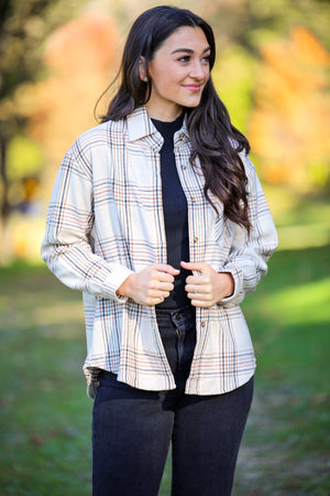 Night Under the Stars Boyfriend Flannel Shirt