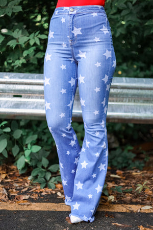 Endless Stars in the Sky Flare Jeans - Pants - Wight Elephant Boutique