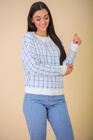 Elegantly Relaxed Tweed Pullover Sweater