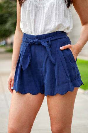 Ride the Waves Scalloped Shorts