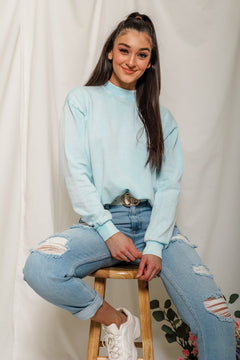 Not Blue About This Hue - Terry Sweatshirt