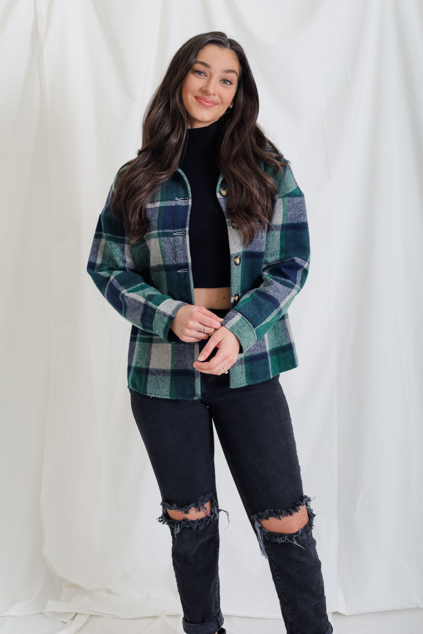Shackin' Up In This Flannel - Green