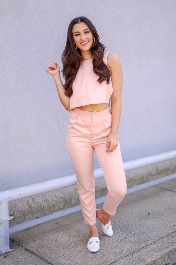 Wink of Pink Cut-Out Jumpsuit