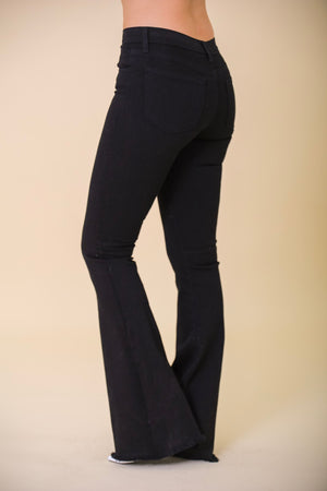 Rough Around the Edges Black Flare Jeans - Pants - Wight Elephant Boutique