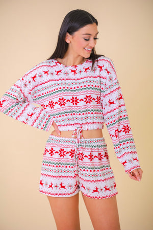 Christmas Cheer Pajama Set - Two-Piece Sets - Wight Elephant Boutique
