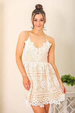 Mendoza Lace Mini Dress