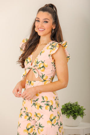 Lemon Kiss Printed Jumpsuit