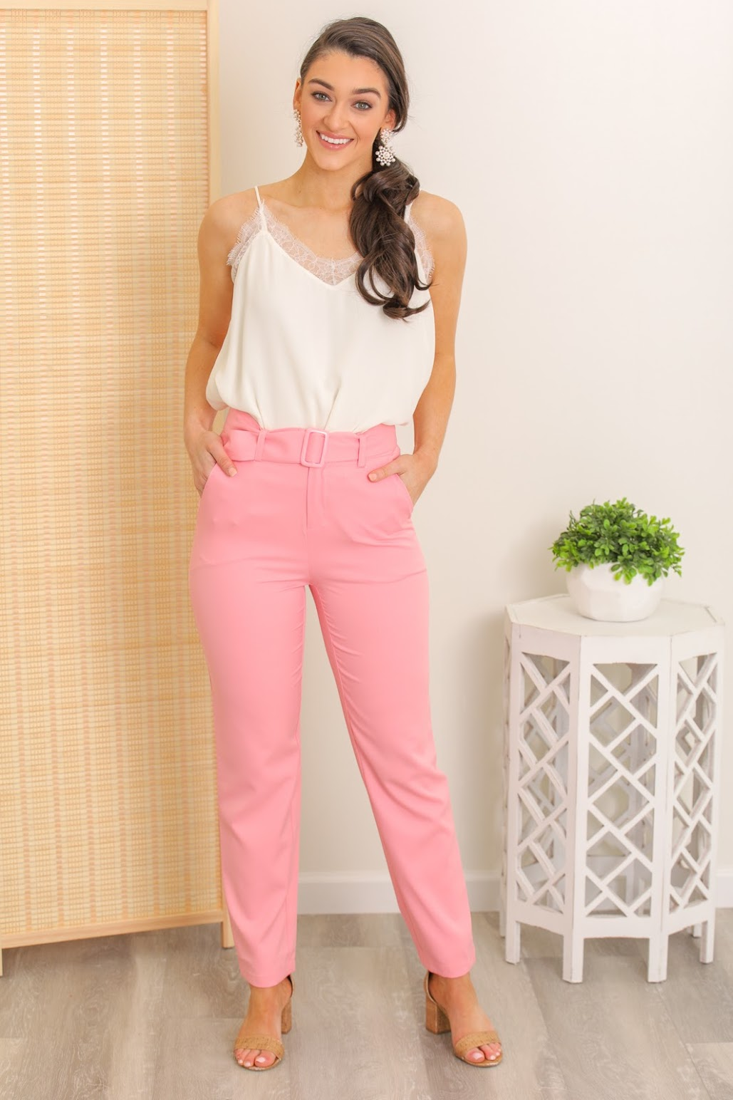 Cotton Candy Pink Trousers