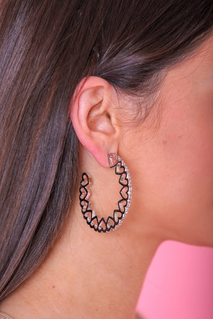 Connect Your Heart Hoop Earrings - Earrings - Wight Elephant Boutique