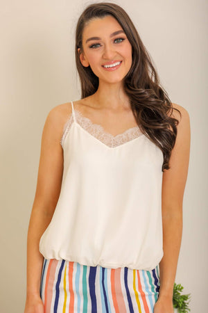 Sealed with a Kiss Lace Cami Top