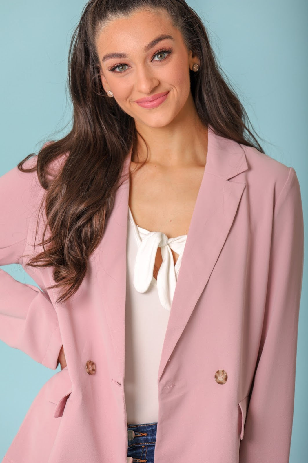 Sweet as Candy Tailored One Button Blazer - Tops - Wight Elephant Boutique