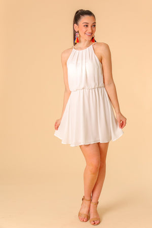 Sea Air Halter Mini Dress