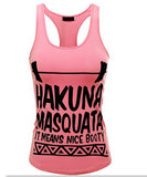 HAKUNA MASQUATA - It means nice booty - Fitness Workout Apparel - Yoga Apparel