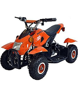 Rosso Motors Kids Sports ATV 4 Wheeler in Orange for Kids