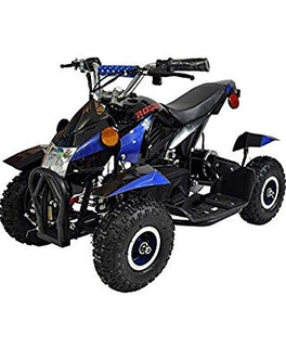 Rosso Motors Kids Sports ATV 4 Wheeler in Blue for Boys