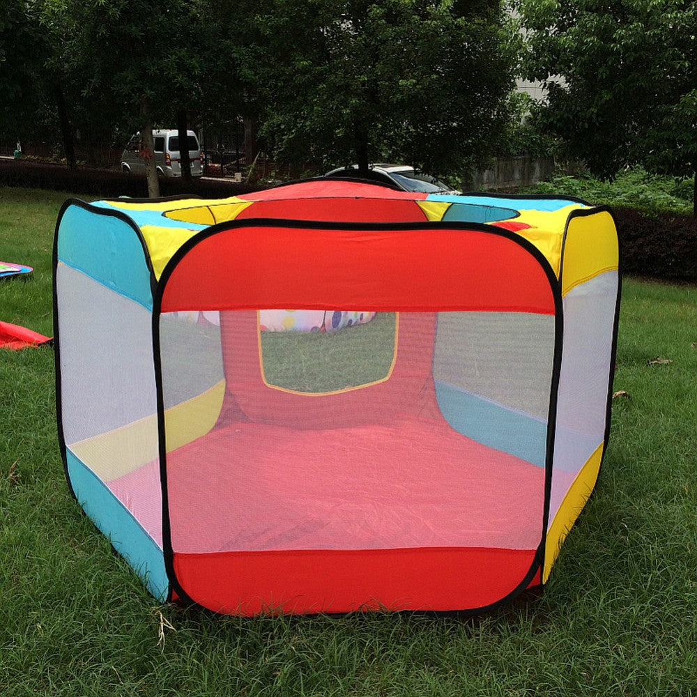 Open Top Kids Outdoor Playhouse Portable Tent