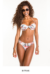 Bikini Floral White Red Black and a hint of Blue