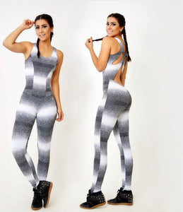 Yoga Jumpsuit Gray Blurs