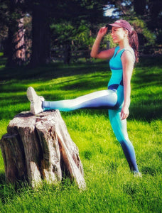 Yoga Jumpsuit Blue