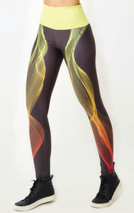 Pink/Lime Yoga Leggings