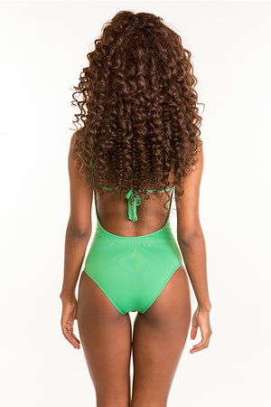 Swimsuit Monokini Green - Skies Azul