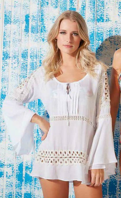 White Beach Dress 17036