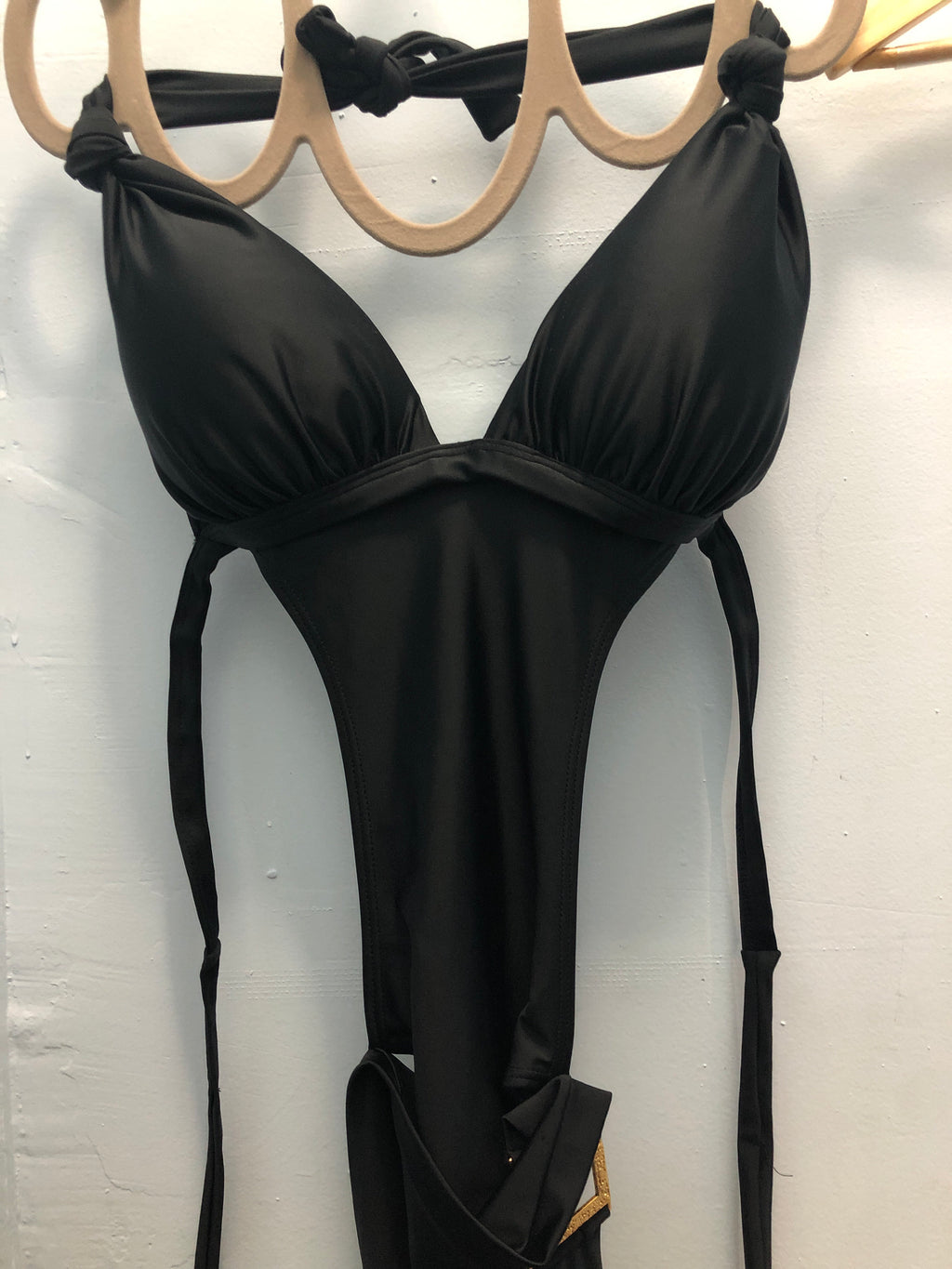 Swimsuit Monokini Black 2 - Skies Azul