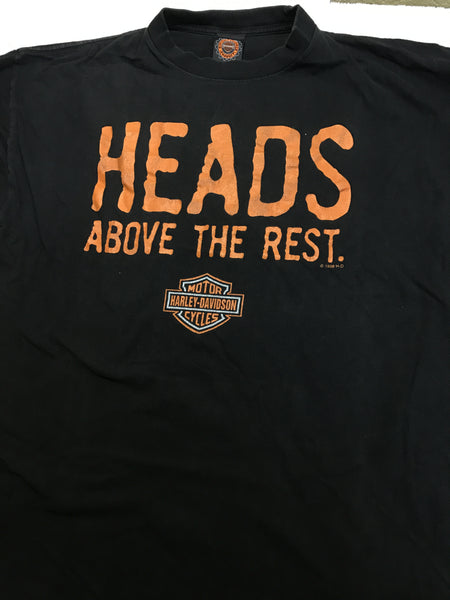 Harley davidson HEADS shirt sz XL