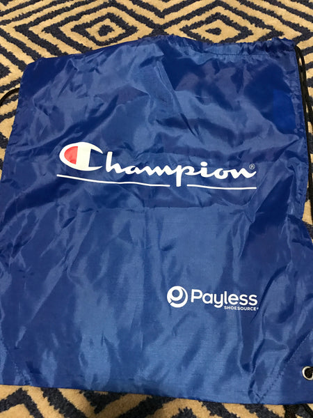 champion pull string bag