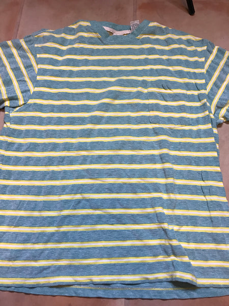 Gap striped shirt green sz L