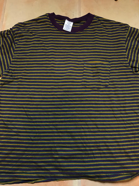 Gap striped shirt purple sz M