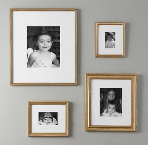 ANTIQUED GILT WOOD FRAMES