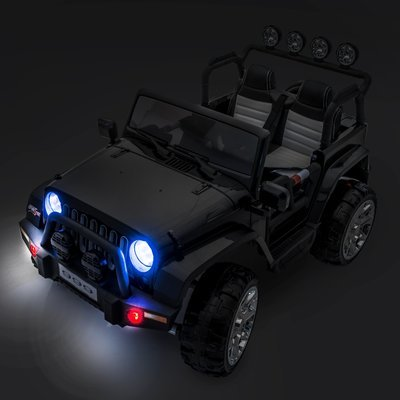 SPORTrax Awesome XL Kid's Ride On 4WD, Battery Powered, Remote Control, w/FREE MP3 Player - Black Head Lights