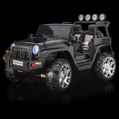 SPORTrax Awesome XL Kid's Ride On 4WD, Battery Powered, Remote Control, w/FREE MP3 Player - Black