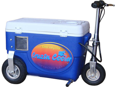 Cooler Scooter 500w By Cruzin Cooler | Blue - Side View