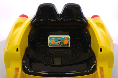 SPIDER GT KIDS 12V RIDE-ON CAR WITH R/C PARENTAL REMOTE | YELLOW